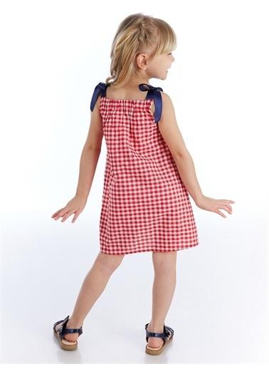 Denokids Ekoseli Gelincik Kız Elbise Renkli